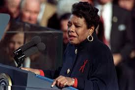 Maya Angelou speaks at President Clinton's inauguration.